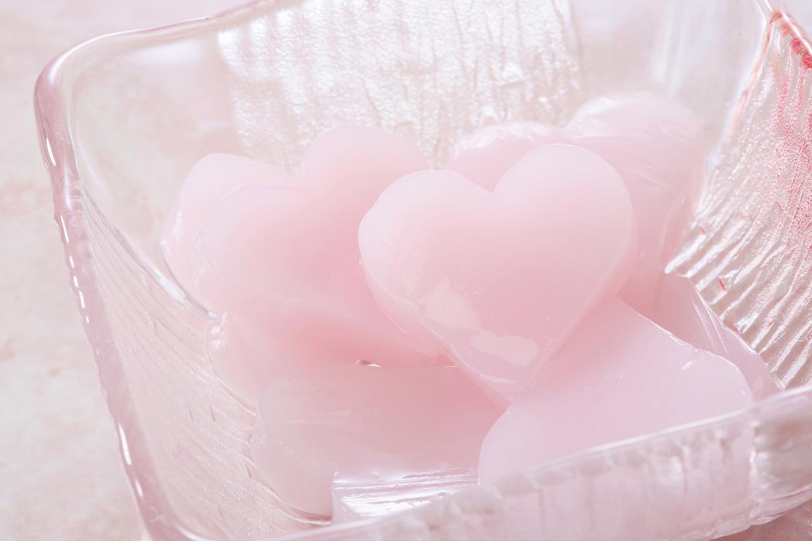 ハート型ピンク